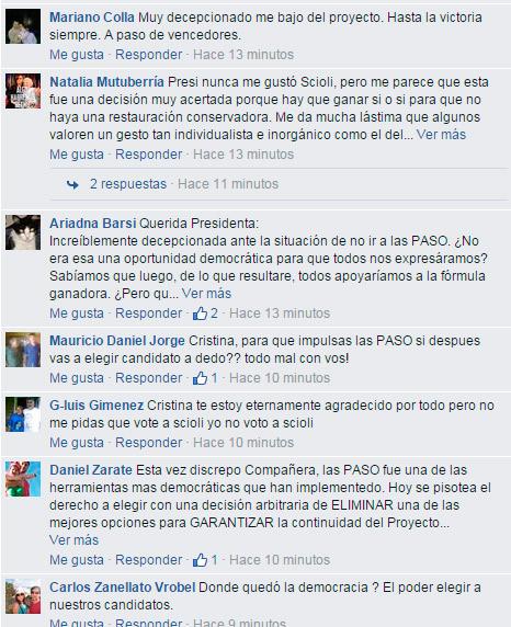 Cristina Kirchner y la traición a sus militantes