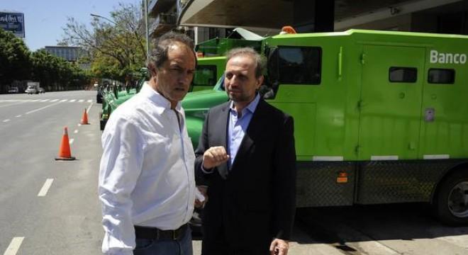 Daniel Scioli y Gustavo Marangoni.