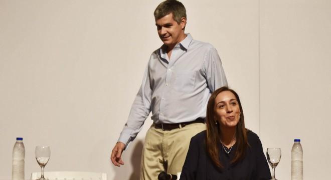 Marcos Peña y María Eugenia Vidal.