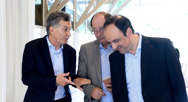 Macri, Sanz y Corral en la última cumbre de Cambiemos en Olivos.