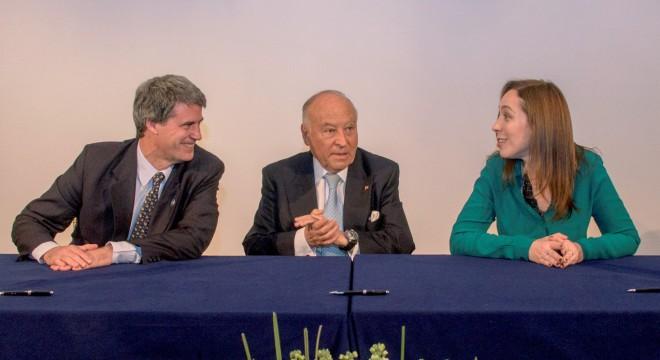 Alfonso Prat Gay, Enrique García y María Eugenia Vidal.