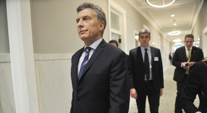 Macri y Marcos Peña en Nueva York.