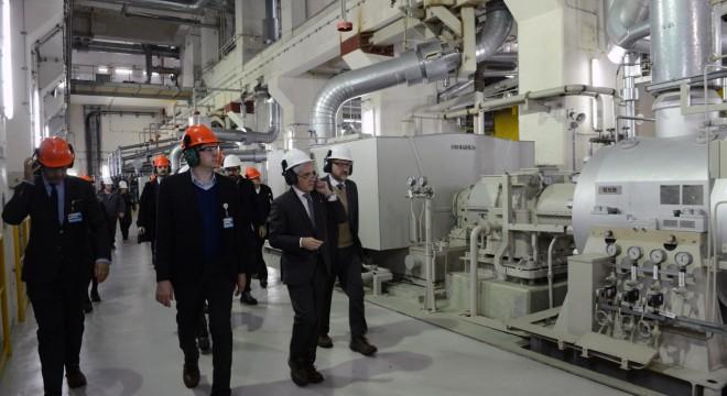 Marcos Peña y Aranguren recorren las instalaciones del complejo nuclear de Atucha.