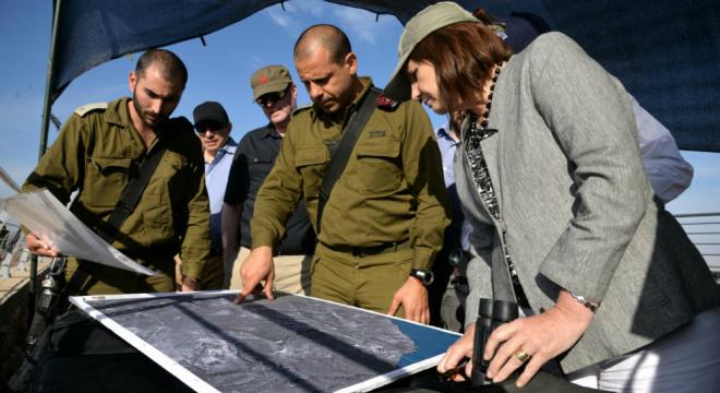 Patricia en la frontera israelí