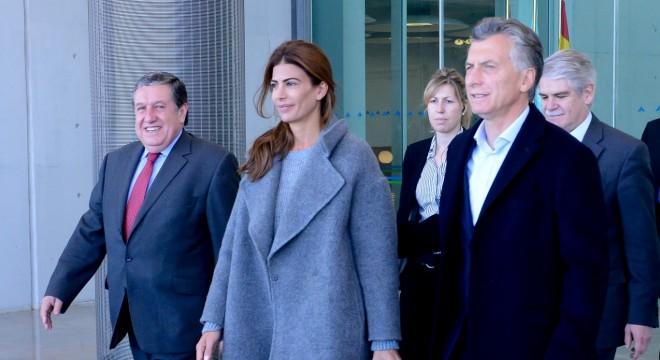 Macri y Awada al llegar a Madrid.