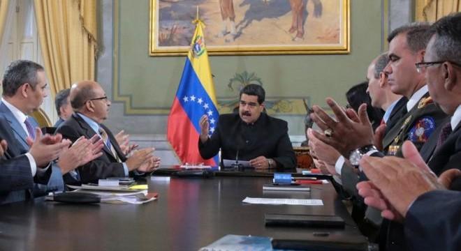 Maduro en el reunión del Codena.