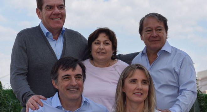 La foto de campaña de los                  candidatos en la provincia.