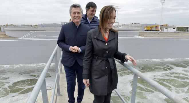 María Eugenia Vidal, Mauricio Macri y Esteban Bullrich.