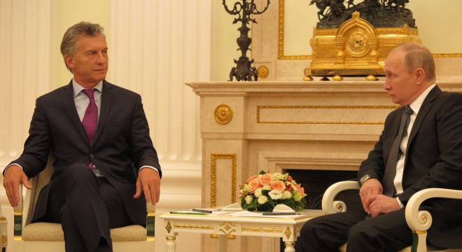 Macri y Putin en el Kremlin en la reciente visita del presidente a Moscú.