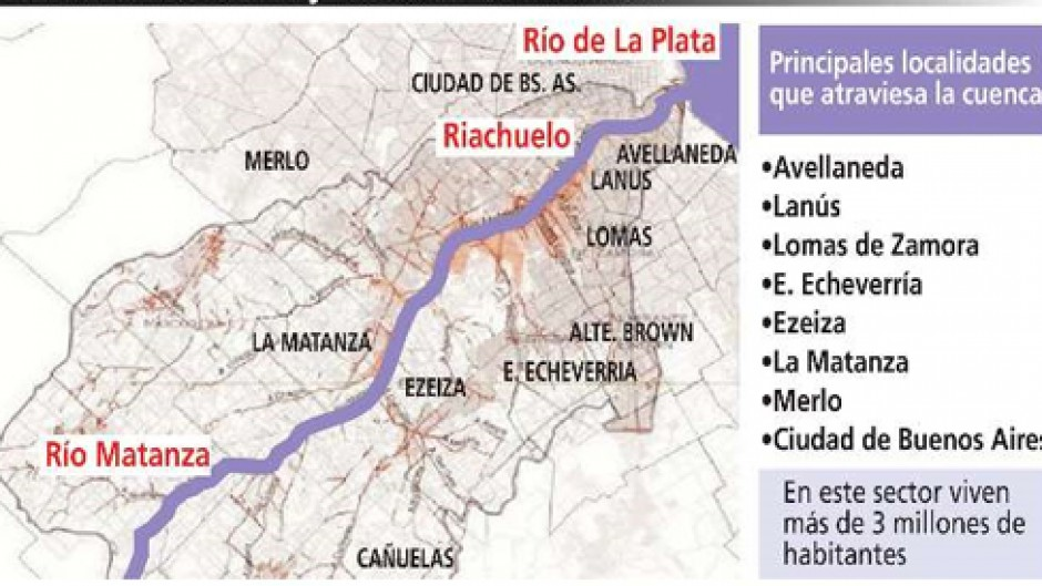 Resultado de imagen para Cuenca Matanza Riachuelo