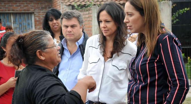Santiago López Medrano, Carolina Stanley y María Eugenia Vidal.