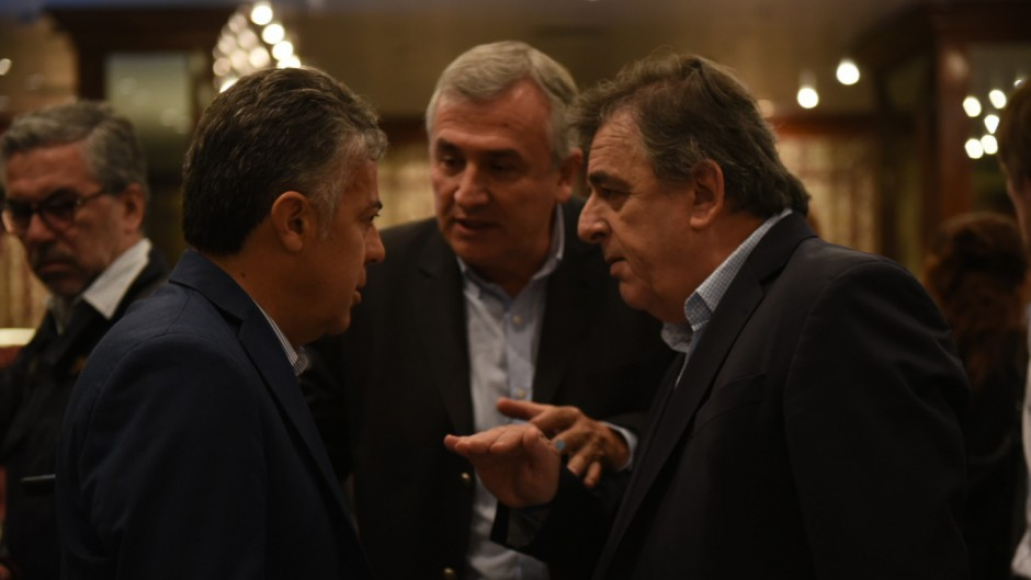 Alfredo Cornejo, Gerardo Morales y Mario Negri.