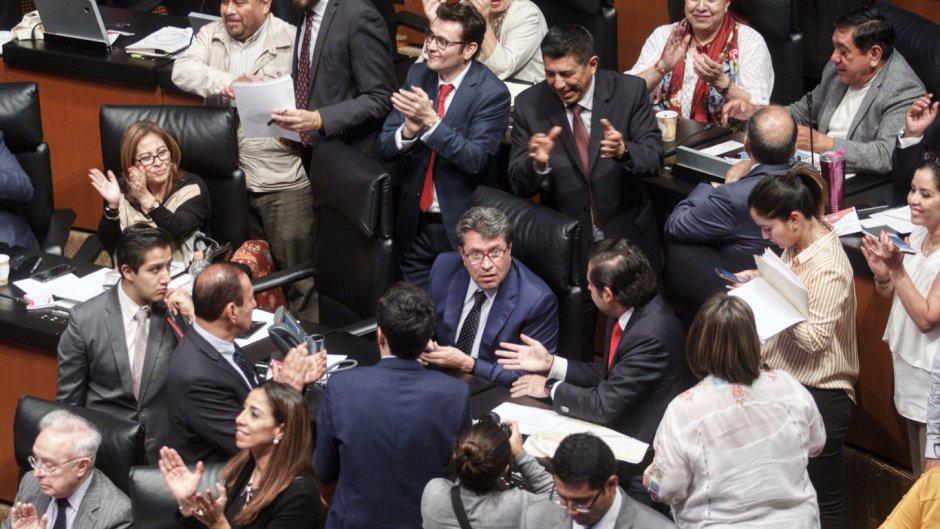 Ricardo Monreal, líder de la bancada de Morena en el Senado.