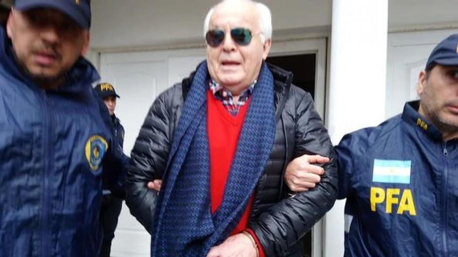 Herme Juárez al momento de su detención