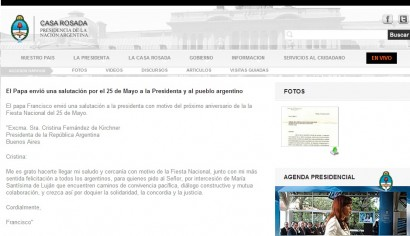 Papelón: El Gobierno difundió una carta del Papa a Cristina que era falsa