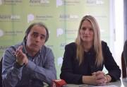 Alejandro 'Conejo' Gómez y Fernanda Antonijevic.